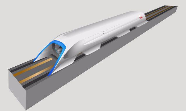 全新的出行概念,Hyperloop内部概念图